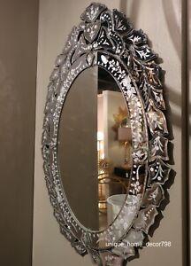 Oval Venetian Style Gl Wall Mirror