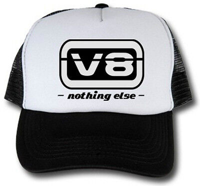 V8 Nothig Else Trucker Cap Hotrod US Car Basecap Tone Up Race Rock n Roll Kappe