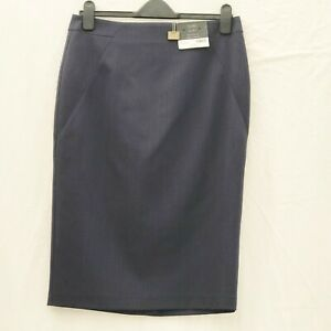 DOROTHY-PERKINS-DP-BLUE-TAILORED-PENCIL-SKIRT-SIZE-12-LENGTH-APPROX-26-5-INCHES