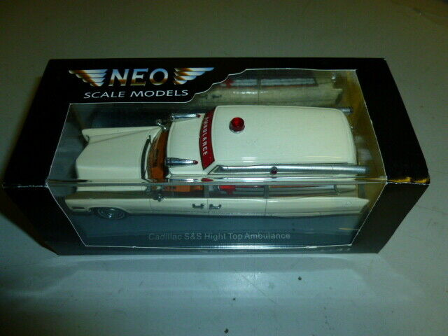 Die cast 1 43  NEO- cadillack  hight ambulance  very beatifull new with box