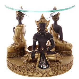 Gold-Brown-Thai-Buddha-Oil-Burner-Candle-Tart-Warmer-Wax-Melts-Granules