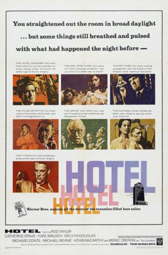 Hotel Rod Taylor Karl Malden movie poster print