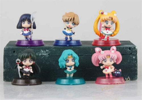 Sailor Moon Beatiful girls figure toy PVC toy 6pcs//set Kids Doll