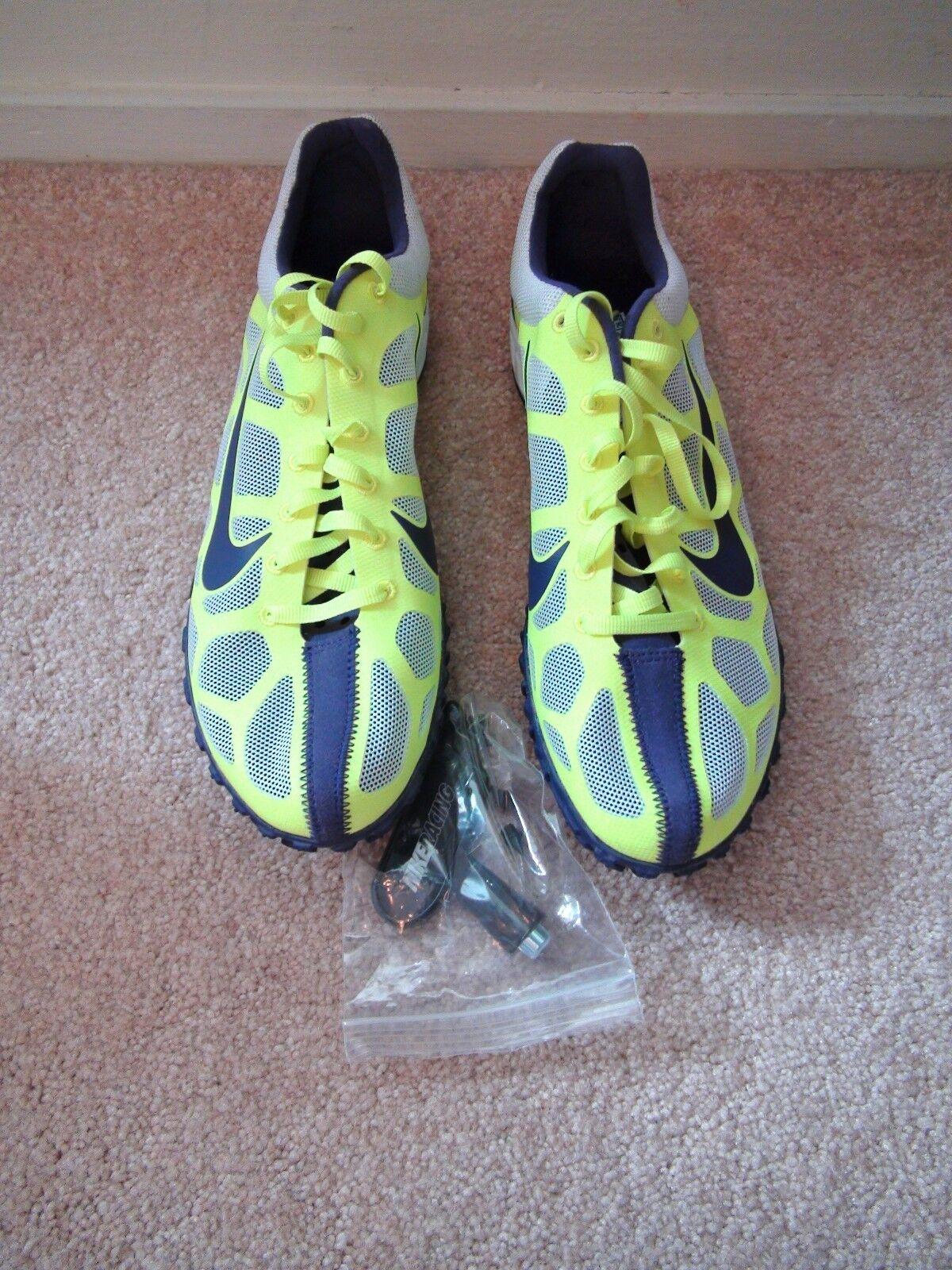 Nike Zoom Waffle XC VIII Cross Country Spike Track Shoe 407060-100 Men's 8.5 NEW