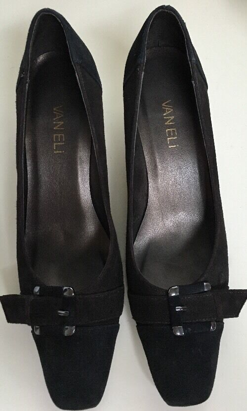 VANELI Black & Brown Suede Pumps 7S