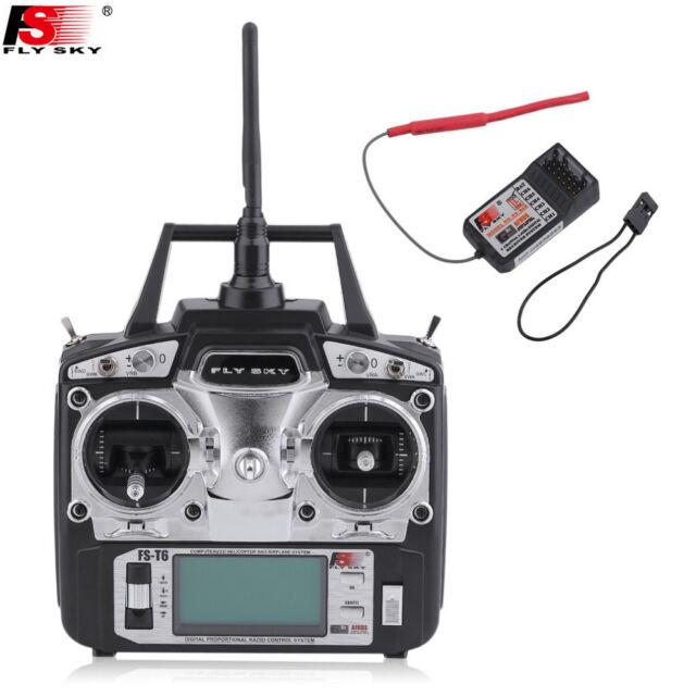 FlySky FS-T6 T6 2.4g Digital Proportional 6 Channel Transmitter&Receiver System