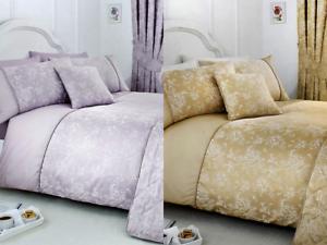 Modern Serene Jasmine Floral Damask Patterned Duvet Cover Set or Accessories