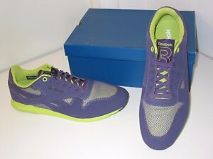 c56296c4a68436 Image is loading Reebok-CL-Ultralite-Thermo-Running-Training-Purple-Green-