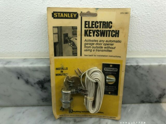 BRAND NEW SEALED Vintage New Stanley Electric Keyswitch garage door opener