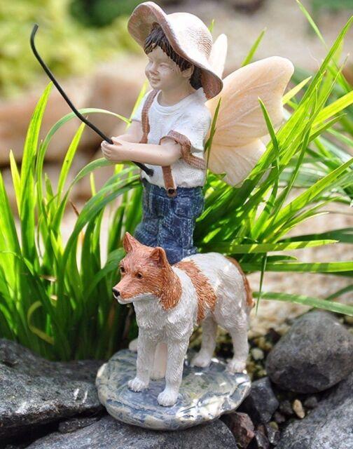 Miniature Dollhouse FAIRY GARDEN  ~ Girl /& Boy Aged Drinking Fountain Statue