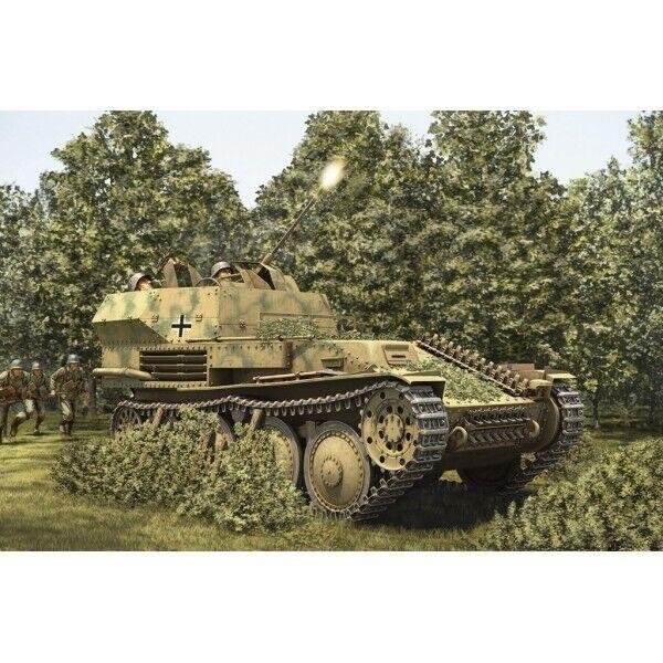 CARRO ANTI-AEREO PZ. KPFW 38(t) FLAK 38 20 mm -Escala 1/35- Hobby...