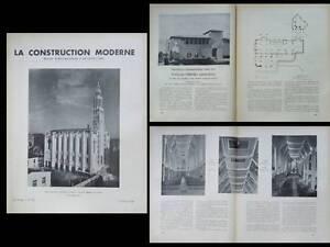 Utile La Construction Moderne 1938 Paris, Eglise St Jean Bosco, Dimitri Rotter, Daures Produire Un Effet Vers Une Vision Claire