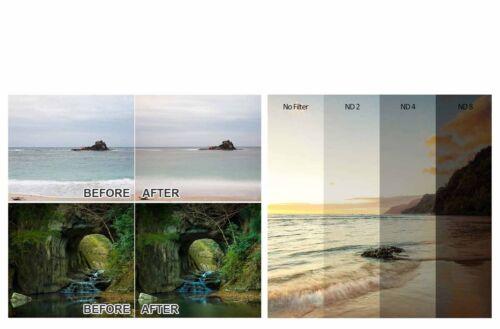 Concepto K/&F Kit de filtro de 55mm ND2 ND4 ND8 Paño de Microfibra para Canon Nikon Sony