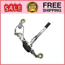 Heavy Duty 5 Ton Come A Long Power Puller 3 Hooks And 2 Gears