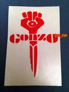 GONZO-RED-FIST-STICKER-DECAL-VINYL-BUMPER-jounalism-hunter-s-thompson-bukowski