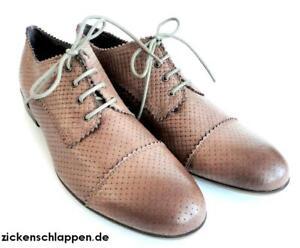 Liebeskind-laessiger-Schnuerschuh-mud-cognac-neu-Gr-38-NEU