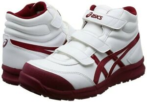 Details about ASICS Working Safety Work Shoes WIN JOB FCP302 WIDE White Burgundy With Tracking