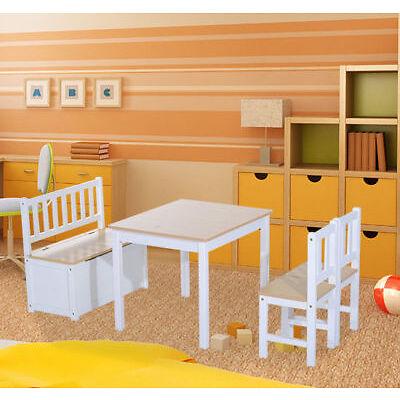 HOMCOM 2 in 1 Kindersitzgruppe Kinderschreibtisch Kinderregal Kindertisch 4-tlg.
