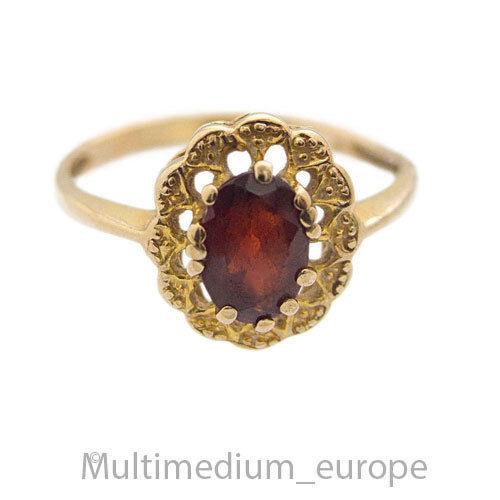 39679af76b9e 333er gold Granat Ring facettiert geschliffen garnet oval 8ct beveled