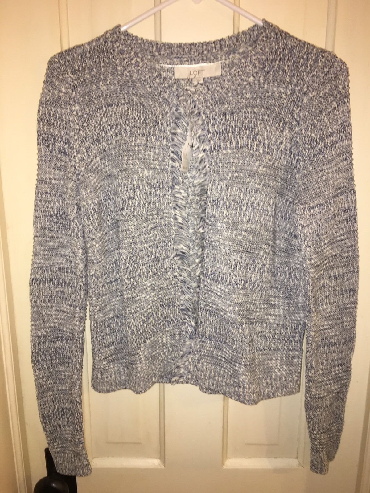 NWT LOFT bluee And White Sweater