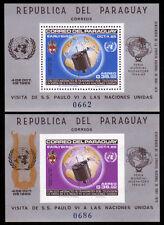 Paraguay Bl. 75,76 **, MUESTRA, Besuch Papst Paul VI bei der UNO