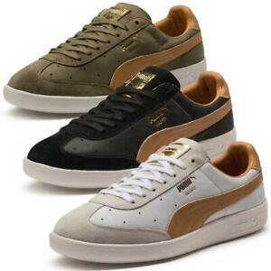 Puma-Madrid-Tanned-Herren-Sneaker-Leder-Schuhe-Turnschuhe-Sportschuhe
