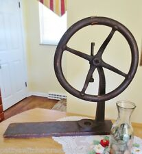 Antique Cast Iron Hagen Becker H.B. SUPREME Manual Wooden Wheel BOTTLE CAPPER