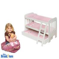 Doll Bunk Bed Trundle American Girl Dolls 18 Inch Furniture Ladder Bedding