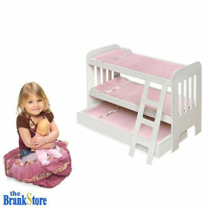 Doll Bunk Bed Trundle American Girl Dolls 18 Inch Furniture Ladder