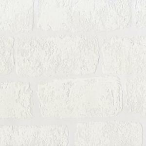 New anaglypta lincolnshire white brick pattern textured for Paintable wallpaper home hardware