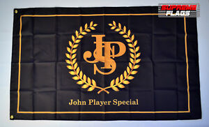 John Player Special F1 Lotus Flag Banner 3x5 ft 77 Car Wall Garage Gold