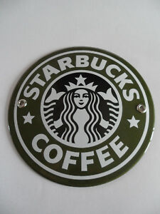 Details About Starbucks City Icon O 6 Inch Porcelain Enamel Metal Outdoor Advertising Sign