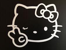 """1pcs 4"""" x 5"""" Hello Kitty Car Sticker Emblem Label/Window/ LapTop / iPad Stick #3"""