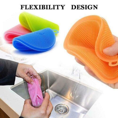 Multifunction Silicone Scrubber Sponge Brush Dish Washing Cleaning-Kitchen H3K1