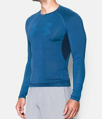 Under Armour UA Men's Compression Long Sleeve HeatGear Graphic Shirt Sonic Shirt