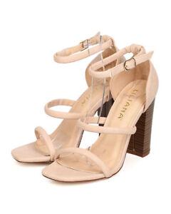 0854952138 New Women Liliana Anson-3 Leatherette Open Toe Triple Strap Chunky ...