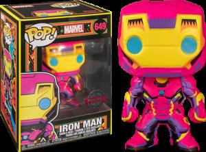 Iron Man Vinyl RS Iron Man Black Light US Exclusive Pop -FUN48846-FUNKO