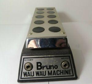 Vintage Bruno Wau Wau Machine Wah Effects Pedal Mica Tone Free USA Shipping