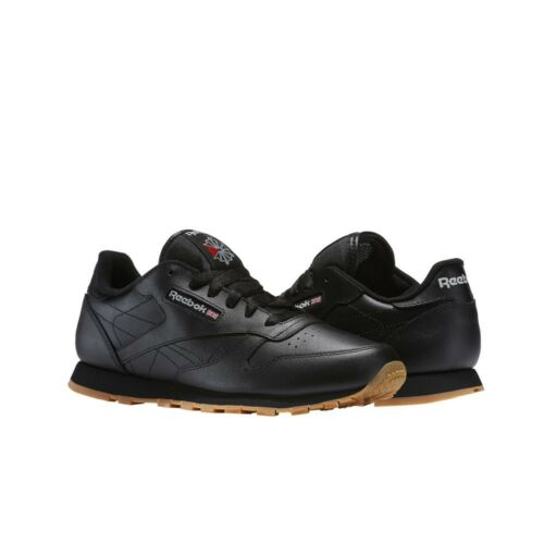 Reebok Classic Leather Grade School Kids Shoes V69623 Black//Gum
