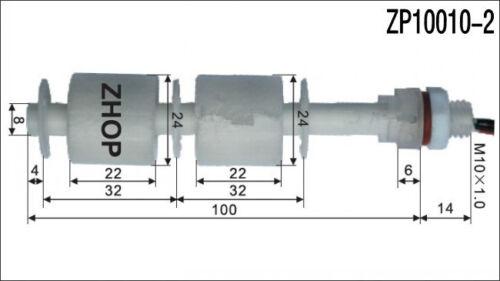 PP Interrupteur à Flotteur niveau d/'eau Capteur de Niveau Plastique Flotteur Bleu Flotteur Contrôleur