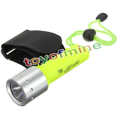1600LM CREE XM-L T6 Waterproof Flashlight Diving Torch Sport Lamp Lights LED