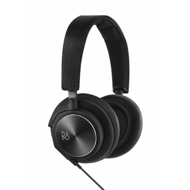 BeoPlay H6 Over Ear Headphones3-button Remote Black Leather, Second Gen