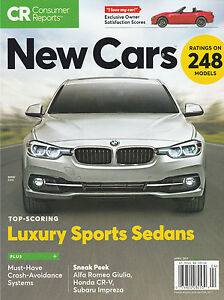 Image Is Loading Cr Consumer Reports Magazine New Cars Rating 248