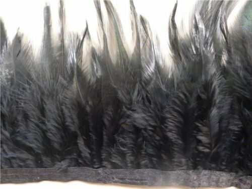 1//10 Yards black rooster feather Fringe Craft Trim Sewing 10-15cm//4-6 inches