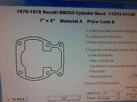 Suzuki Rm250 Cylinder Base Gasket 1976 1977 1978