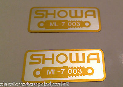 HONDA RC30 FRONT FORK TENS CAUTION WARNING LABEL DECALS X 2