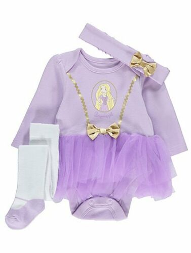 BABY Disney Princess Rapunzel Party 3 Piece Costume//Fancy Dress//Outfit 0-18
