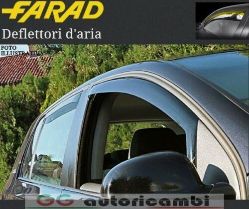COPPIA DEFLETTORI ARIA FARAD TOYOTA YARIS 2012/> 5 PORTE ANTIVENTO ANTITURBO