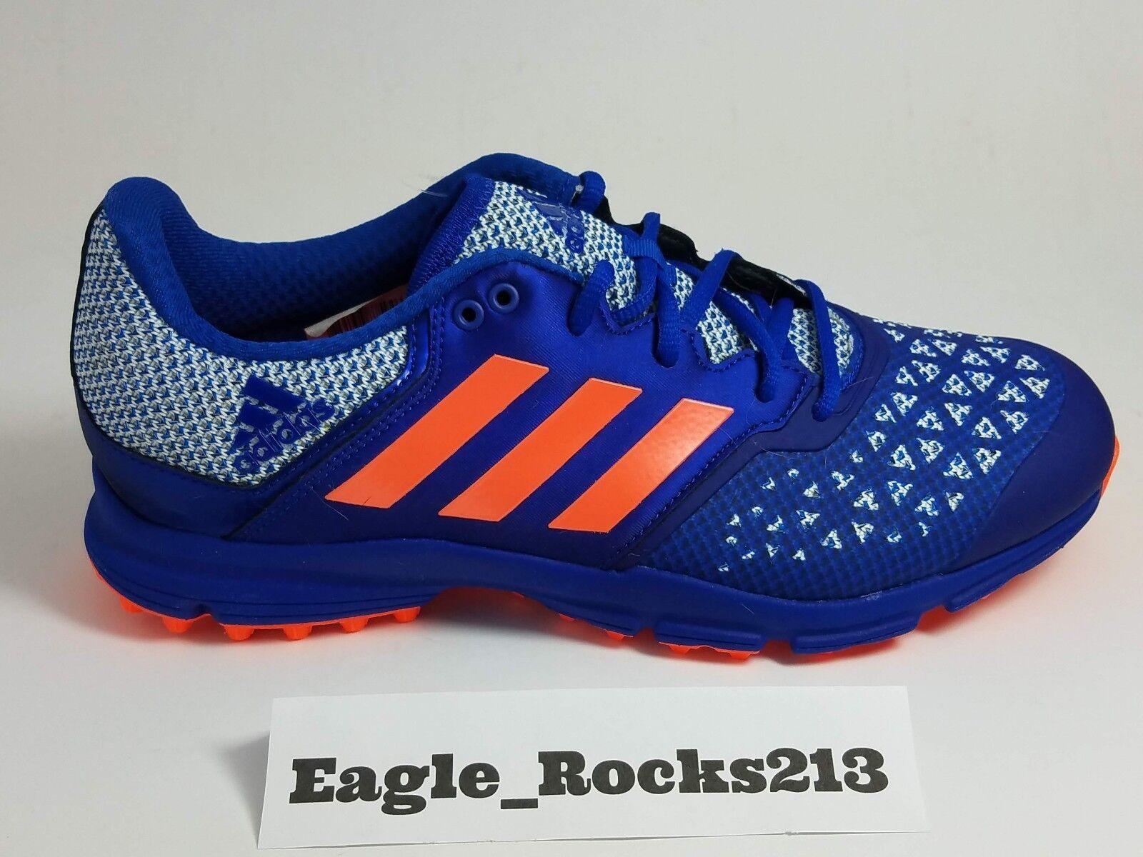 Adidas Zone Dox Hockey Aq6520 Blue Orange Shoes Cleats Uomo Sz 9 Turf Trainers