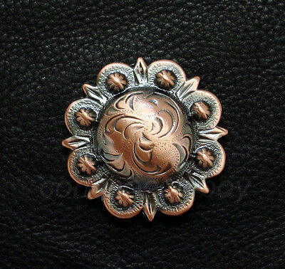 "WESTERN HORSE SADDLE TACK CAP LONGHORN STEER BERRY CONCHOS 2-1//4/"" SCREW BACK"